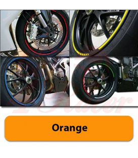 Strips for wheels   GP STYLE Rim size: 16-19 inches ORANGE