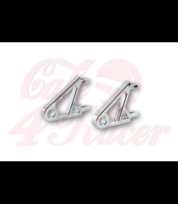 HIGHSIDER CNC Alu headlight bracket XS,  chrome EXTRA SHORT