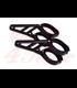 HIGHSIDER CNC Alu headlamp bracket 35-54mm chrome/black SHORT