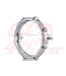 MONZA 5.75 Inch CNC Machined Aluminum LED Headlight Surround - Polished Aluminium