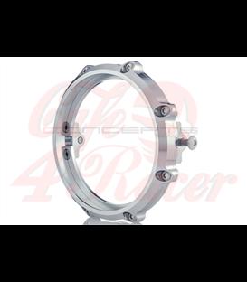 MONZA 5.75 Inch CNC Machined Aluminum LED Headlight Surround - Polished Aluminium - 3527
