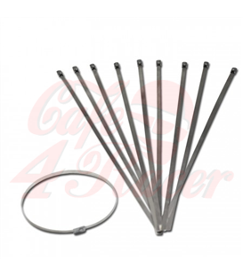 10 pcs Stainless Steel Cable Ties (316)