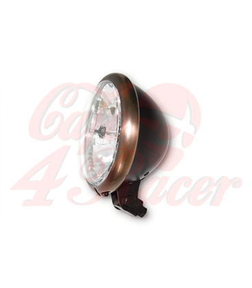 "5.75"" Cafe Racer Headlight H4, Copper & Black"
