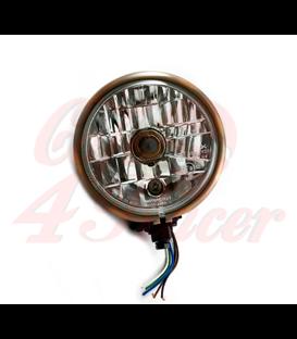 SHIN YO headlamp, Bates Style 5 3/4 inch  Medená & Čierna