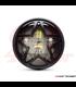 "7,7 ""matný čierny LED svetlomet + Titan  gril"