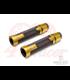 """Sportz Anodized CNC Machined Aluminum / Rubber Hand Grips + Bar Ends - 7/8"""" Gun Metal"""