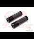 Retro Anodizované  CNC ALu + guma  22mm rukoväte Čierna