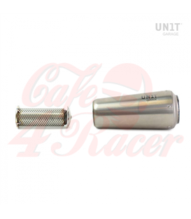 GP Universal Silencer in Titanium with removable Db killer LEFT