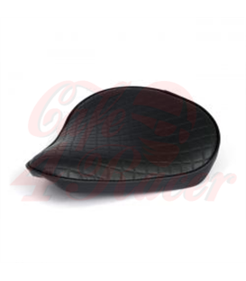 Fitzz, custom solo seat. Black Flame. Large. 4cm thick