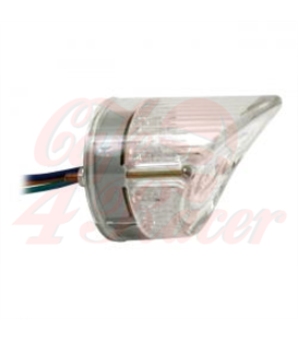 MOTORCYCLE STORE HOUSE LED SHARKNOSE TAILLIGHT  clear