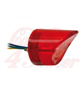 MOTORCYCLE STORE HOUSE LED SHARKNOSE TAILLIGHT  red