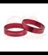 Aluminum decorative rings red