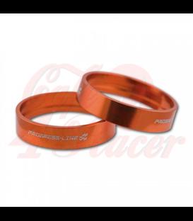 Aluminum decorative rings orange