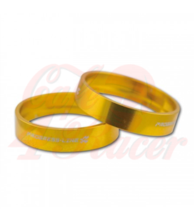 Aluminum decorative rings gold
