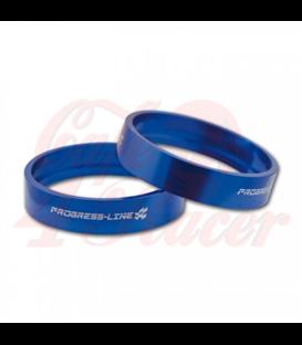 Aluminum decorative rings blue