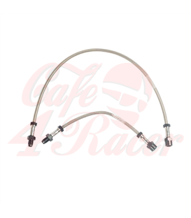 Brake line stainless steel  R 45, R 65 up to 9/80   Single brake disc  With high handlebar