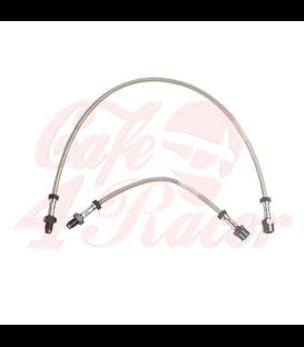 Brzdové hadice nehrdzavejúcej ocele R 45, R 65 až 9/80 jeden brzdový kotúč s vysokými riadítkami