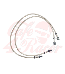 Brake line stainless steel For /6, /7 models up to 9/80  With dual disc brake