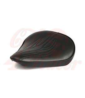 Fitzz, custom solo seat. Black Flame. Large 4cm thick