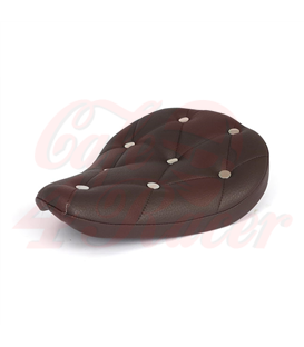 Fitzz, custom solo seat. Brown/Rivets Small. 4cm thick