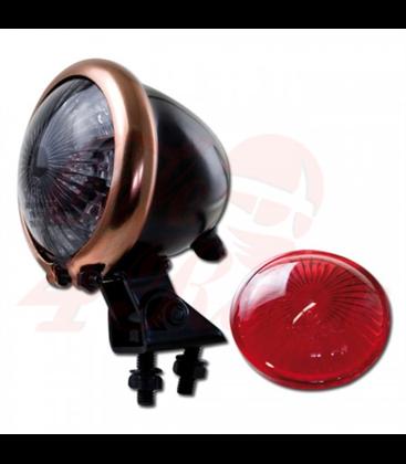 Mini Bates Tail Light - Stainless Fixings - LED - BLACK