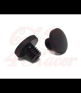 Čierne CNC obrábané hliníkové závitové zátky (2 ks) M10