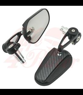 7/8'' Bar End Mirror - Carbon Fiber Pattern