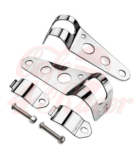 Universal headlight brackets 32-37 mm chrome