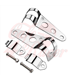 Universal headlight brackets 30-38 mm chrome