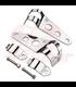 Universal headlight brackets 30-38 mm chrome