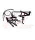 Rearsets for the K75/100/1100/K1 black/silver LONG