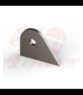Upevňovací štítok support držiak rezaný laserom