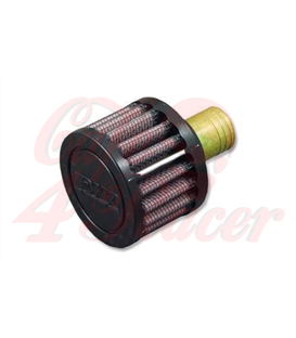 DNA Round 16mm crank case vent filter rubber top male round