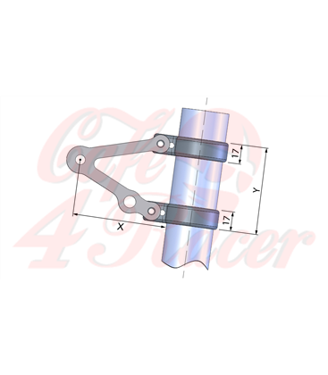 LSL  Držiak svetla krátky s dierou na smerovky