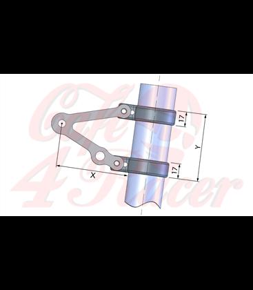 LSL Headlight bracket long, with indicator support
