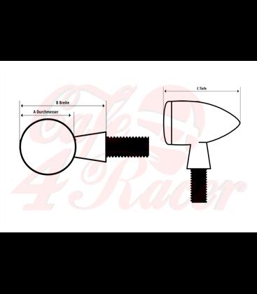 HIGHSIDER LED-Blinker MONO BULLET LONG