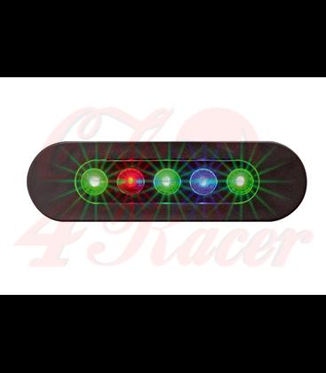 Telltale meter DAYTONA MICRO, 5 LED kontroliek