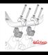SW-Motech handlebar riser 30 mm black/silver