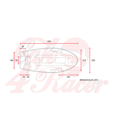 SR400 Flat Seat