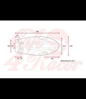 SR400 Flat Seat SCRFSR