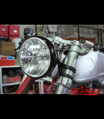 HIGHSIDER CNC Alu headlamp bracket 35-54mm chrome/čierna