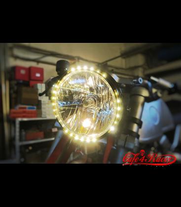 SHIN YO 7 inch headlamp RENO 2  s LEDkami v ráme