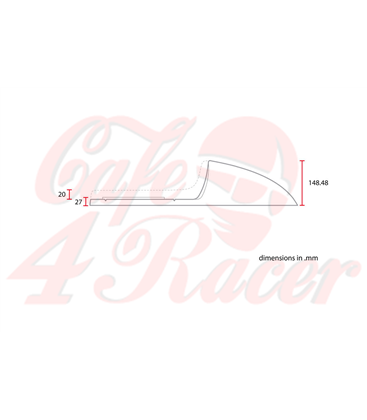 Sedadlo Cafe Racer CR12 čierna STRAIGHT