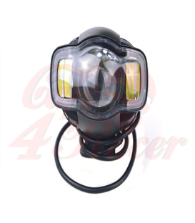 Motorcycle LED  FOG - Headlight With USB Charger Lamp