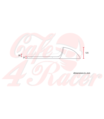 Sedadlo Cafe Racer CR12 Hnedá Vshape