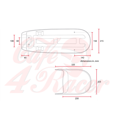 Honda CX500 Cafe racer Scrambler Typ2 Hnedá