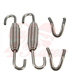 2x Exhaust Muffler Springs