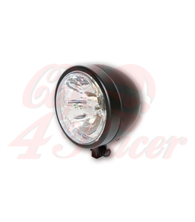 HIGHSIDER  130 mm LED main headlight MIAMI black/chrome