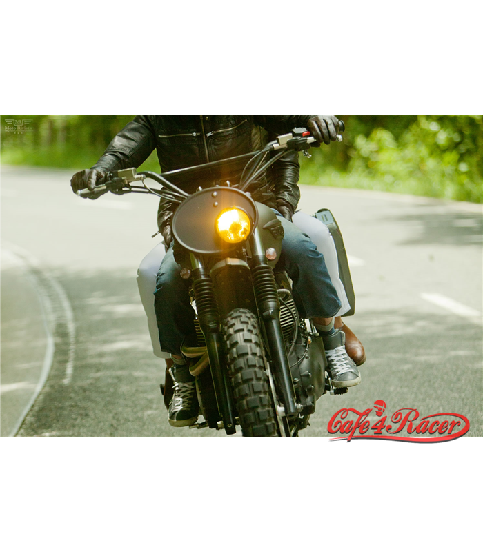 Oval number plate - plastic ABS - cafe 4 racer