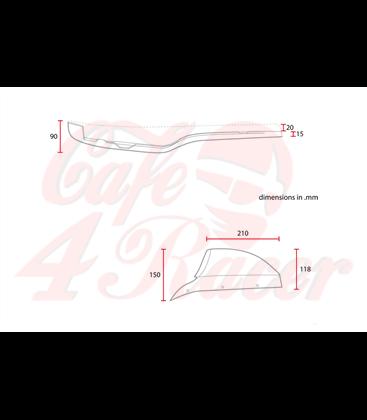 Honda CX500 Cafe racer Scrambler Typ2 Čierna
